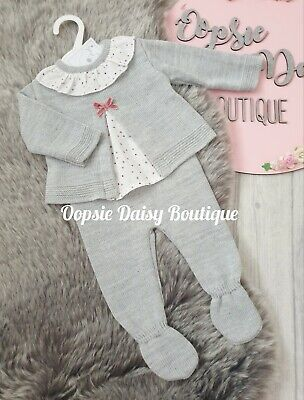 Girls Portuguese Grey Knitted Suit  • 12£