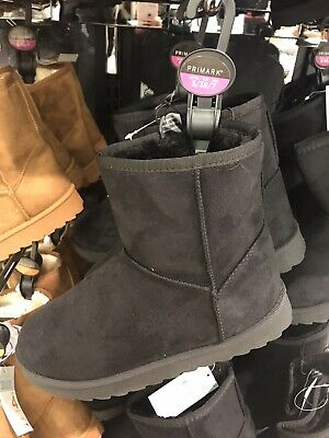 Women's Ladies  Primark Black Slip On Boots UK Size 5 Brand New With Tags • 13.98£