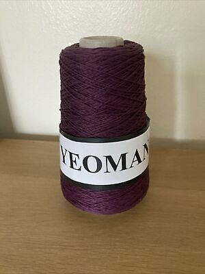 Yeoman Yarn Cannele 4ply Corded Mercerised Cotton Aubergine • 7£