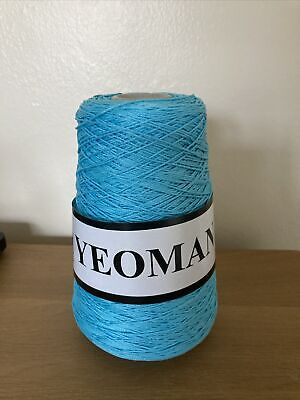 Yeoman Yarn Cannele 4ply Corded Mercerised Cotton Turquoise • 7.25£