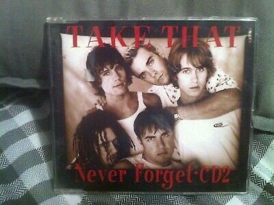 TAKE THAT - NEVER FORGET / INTERVIEW - 2 Track CD SINGLE • 1.99£