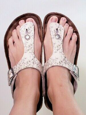 Papillio By Birkenstock Gizeh Floral Print Thong Slide Sandals! Size 10 • 35.47£
