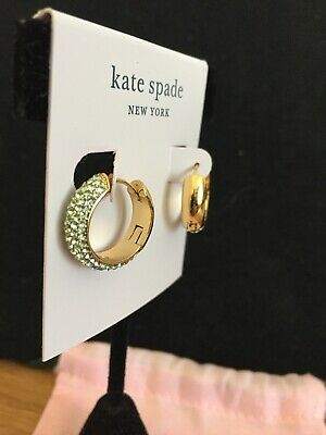 $ CDN53.31 • Buy NWT Kate Spade Mint Candy Drop Pave Huggie Earrings