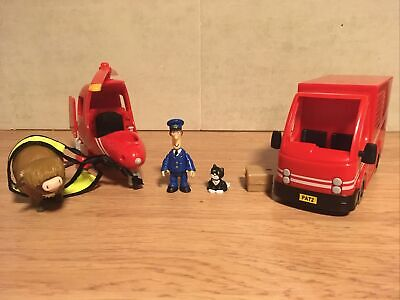 Postman Pat Sds Helicopter And Van With Figures • 15.99£
