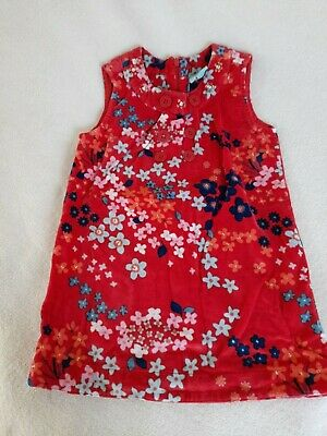 Velvet Orange Floral Pinafore Dress With Sequin And Button Detail. Yumi. 3-4 Yrs • 2£