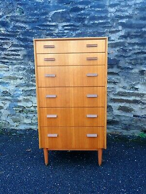 Vintage G Plan E Gomme Chest Of Drawers • 295£