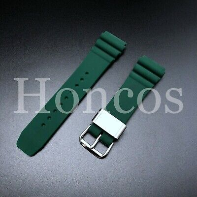 $ CDN20.11 • Buy Watch Silicone Diver 22mm Band Rubber Strap For Seiko Skx007 Skx009 GREEN SUMMER