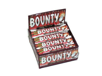 Dolls House Miniature Red Bounty Bars Chocolate Box-sweet Shop-food-1:12 Scale • 3.99£