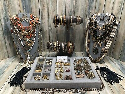 $ CDN6.49 • Buy Huge Vintage To Now Jewelry Lot - Estate Find - All Wearable Pieces - 3 Lbs +