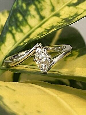 AU799 • Buy Marquise .35ct Diamond Ring Set In 18k Gold