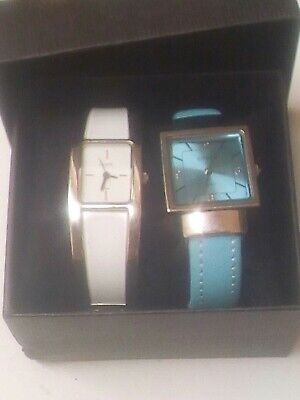 Anaii Pink Quartz & Citron Quartz Watches In A Box • 3£