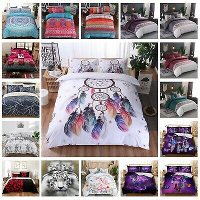 AU33 • Buy Ultra Soft Quilt Doona Duvet Covers Set Single Double Queen Super King Size Bed