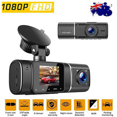 AU77.61 • Buy Touch FHD 1080P+1080P Dual Lens Car DVR Reversing Camera Video Dash Cam Recorder