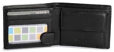 SADDLER Mens Genuine Leather 3 Card Billfold Wallet With ID Window & Coin Pur... • 50.49£