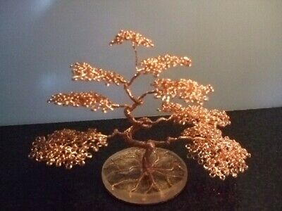 Handcrafted Copper Wire Bonsai Tree • 20£