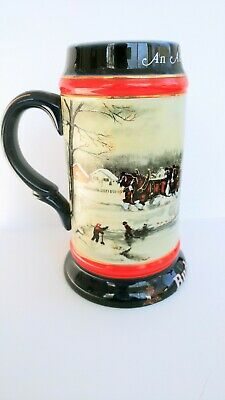 $ CDN16.84 • Buy Budweiser Holiday Stein 1990 An American Tradition Susan Sampson Vintage Beer