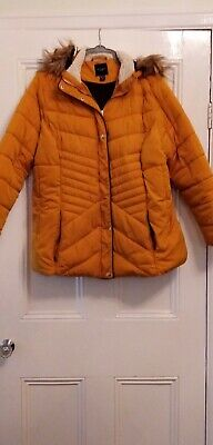 Ladies Mustard Padded Coat Size 22 From New Look • 11.40£