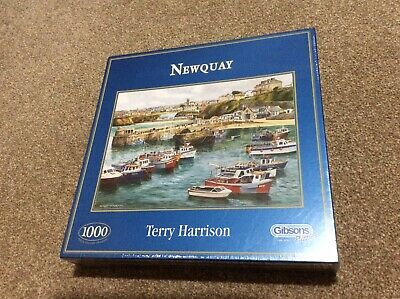 Gibsons 1000 Piece Jigsaw Puzzle - Newquay - Terry Harrison - 2010 - *Brand New* • 10.50£
