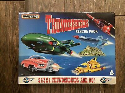 MATCHBOX THUNDERBIRDS Rescue Pack Boxed: Vintage1992 Thunderbirds 1,2,3,4, FAB 1 • 30£