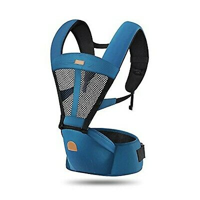 ThreeH Baby Carrier Airflow Breathable Mesh Hipseat & Pocket BC03,Navy Navy • 77.25£