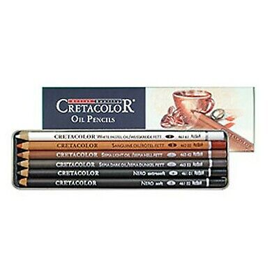 Cretacolor 400 07 Drawing Set Oil Pencils, 6 Pieces • 49.06£