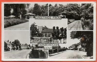 Postcard Kent Farnborough Multi-view 1956 • 2.50£