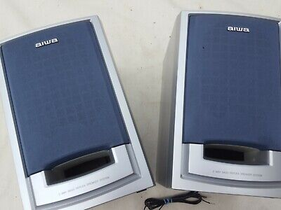 Awia Cassette Deck Speakers X 2 Used Working Music Home 2 Way Bass Reflex System • 10£