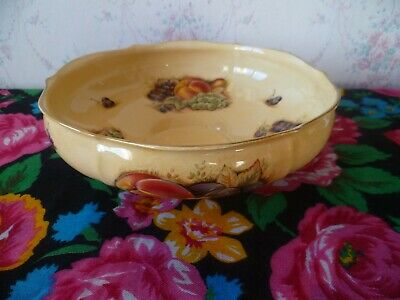 Aynsley Orchard Gold English China Bowl 8.5 Inch Wide  Fruit Pattern  • 14£