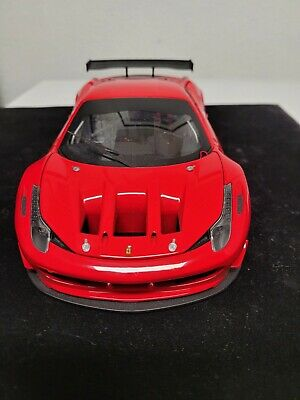 1/18 Hot Wheels Elite Ferrari 458 Italia Gt2 Red • 116.37£