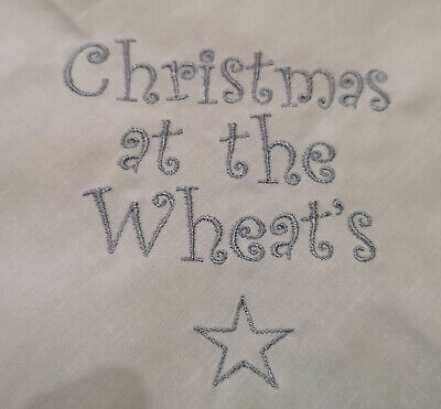 £3.50 • Buy Personalised Embroidered Christmas Napkins 100% Cotton 16  Gift Present Any Name