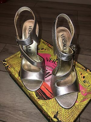Versace X H&M Silver Shoes. Euro Size 39. With Box And Dust Bag • 59£