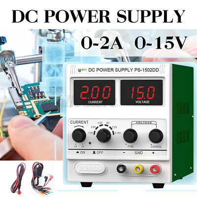 2A 15V Digital Adjustable Regulated DC Lab Power Supply Switching Phone Repair • 33.99£