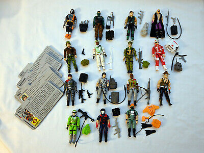 $ CDN38.88 • Buy Vintage GI Joe 1986 Figures Lot W/ File Cards - Only 1 Accessory Missing!