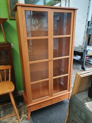 Beech Display Cabinet  • 65£