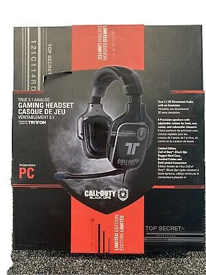 £55 • Buy Call Of Duty Black Ops Gaming Headset, Limited Edition With Rugged Hard Case
