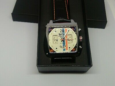 Mens Watch Racing Le Mans Steve McQueen Monaco  Porsche Gulf  Goodwood With Tag • 77£