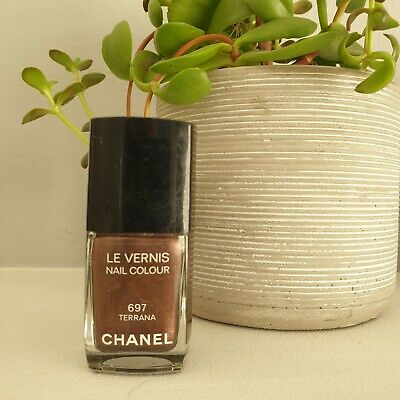 Chanel Le Vernis Nail Varnish 697 TERRANA Gorgeous Deep Shimmer Brown Taupe  • 1.24£