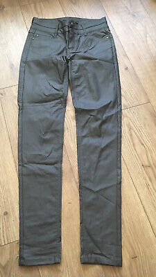 Miss Captain Trend Grey Coated Skinny Stretch Jeans UK 10 • 7£