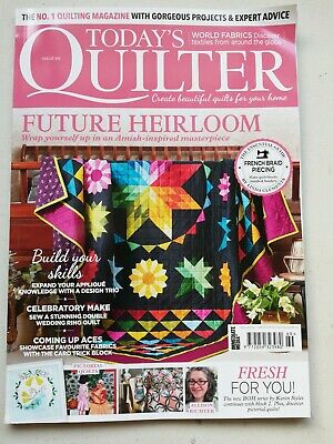 Today's Quilter Magazine Current Edition Issue 69 Wedding Ring Templates • 0.99£