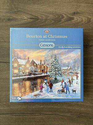 Bourton At Christmas 500 Piece Gibsons Jigsaw, Terry Harrison, Puzzles G3088 • 3.19£