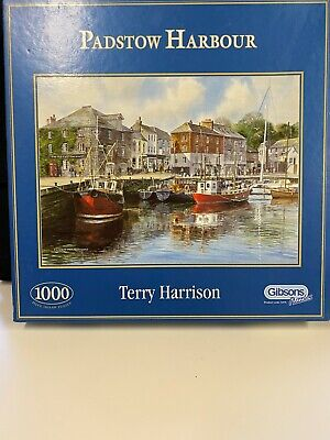 GIBSON 1000 Piece Jigsaw Puzzle Padstow Harbour By Terry Harrison • 5.99£