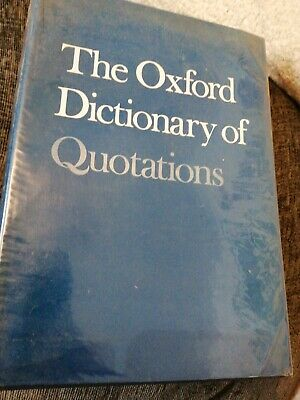 Oxford Dictionary Of Quotations Second Edition • 2.30£