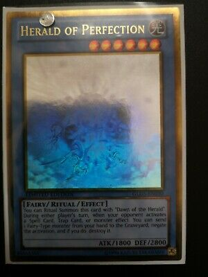 GLD5-EN030 Herald Of Perfection Ghost Gold Rare 1st Edition Mint YuGiOh Card • 15£