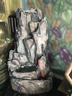 Garden Water Feature. Resin. Rock Face. Cascading Water Fall. 150 Cms. Used. • 200£