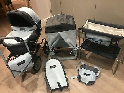 Mama And Papas Doll Pram, Wardrobe, Bath/cot, Rocker, Carrier And Changing Bag.  • 18£