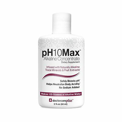 PH10Max Alkaline Water Drops 2 Oz.| Infused With Natural Alkaline Trace Miner... • 12.87£