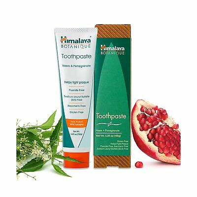 Himalaya Neem And Pomegranate Toothpaste, Natural, Fluoride-Free, SLS-Free, G... • 6.43£
