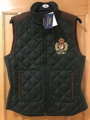 Polo Ralph Lauren Womens New Genuine PLF Vest Quilted Gilet Green • 75£