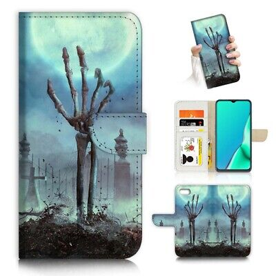AU12.99 • Buy ( For Oppo A57 ) Wallet Flip Case Cover PB24121 RIP Halloween