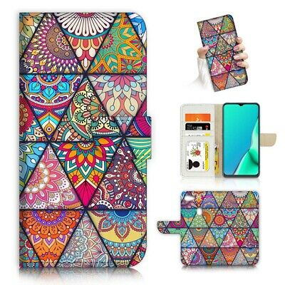 AU12.99 • Buy ( For Oppo A73 ) Flip Wallet Case Cover PB24153 Abstract Mandala